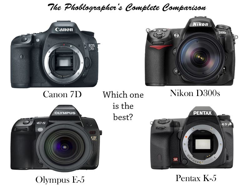 Battle of the Flagships: Olympus E-5, Pentax K5, Canon 7D, Nikon D300s: Which is Better?