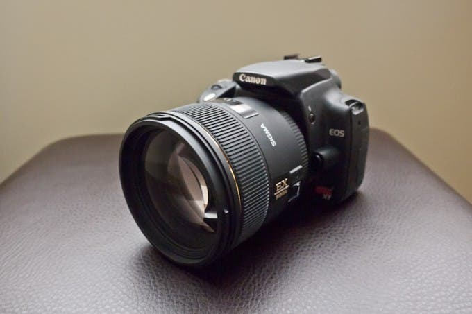 Sigma 85mm F/1.4 on a Canon Rebel XT