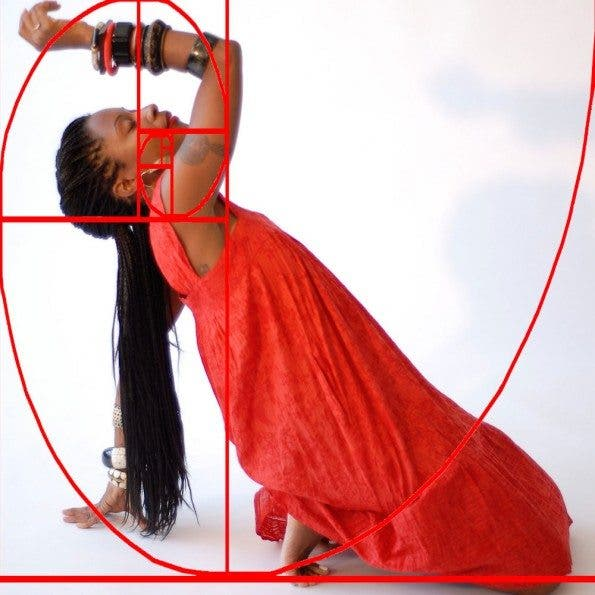 Fatima Robinson dancing in a Golden Spiral