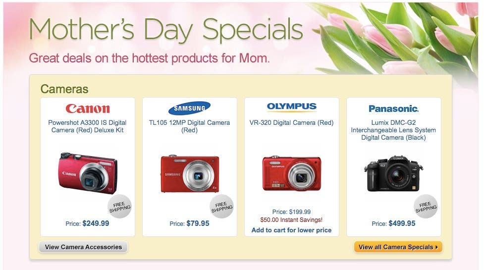 Mother's Day Specials are Available at B&H