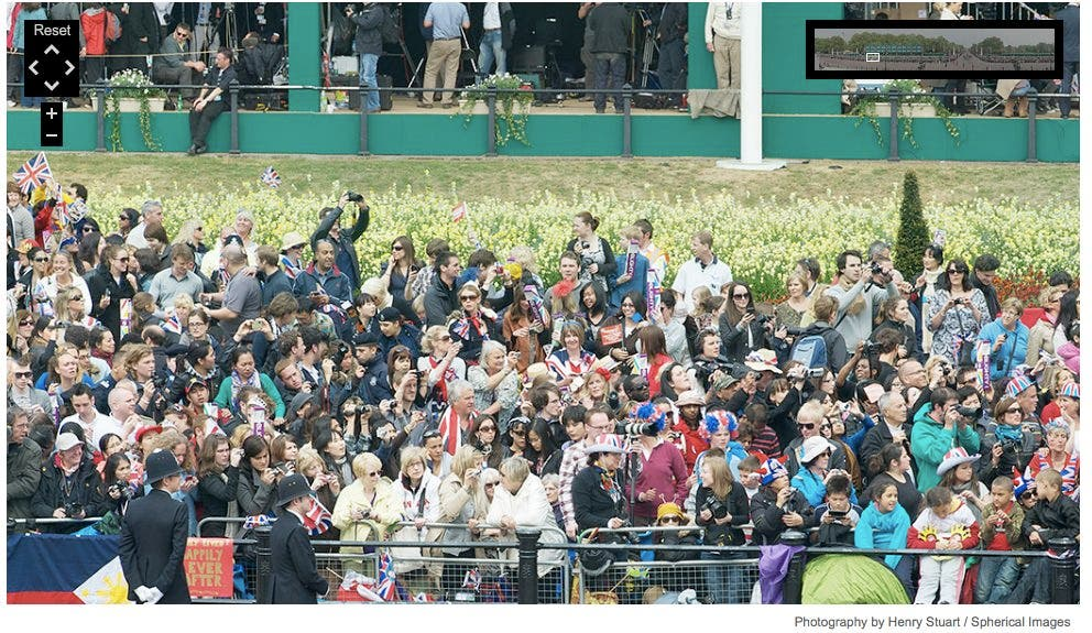 1.15-Gigapixel Panoramic Photo of the Royal Wedding Includes a Sea of Low End DSLRs
