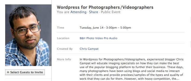 Come to Editor in Cheif Chris Gampat's Free Workshop!