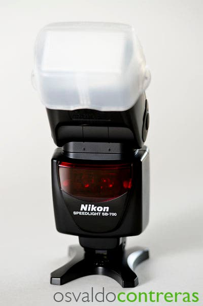 Picture showing the front of the Nikon SB-700 flash