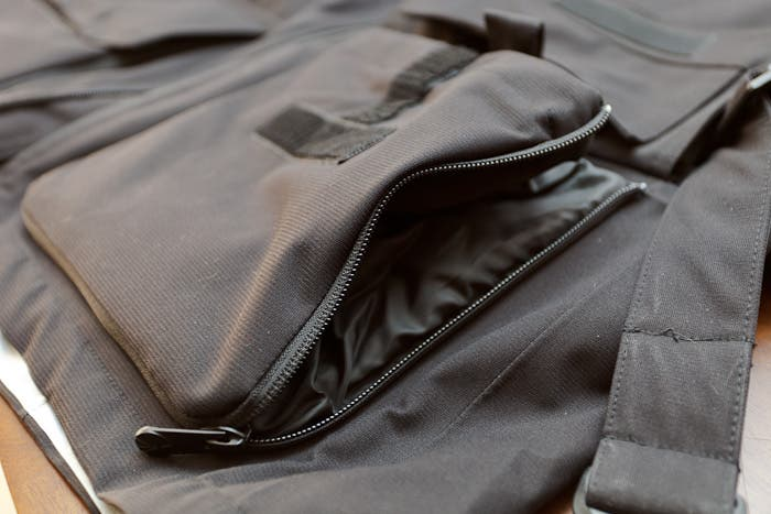 Expanding front pockets
