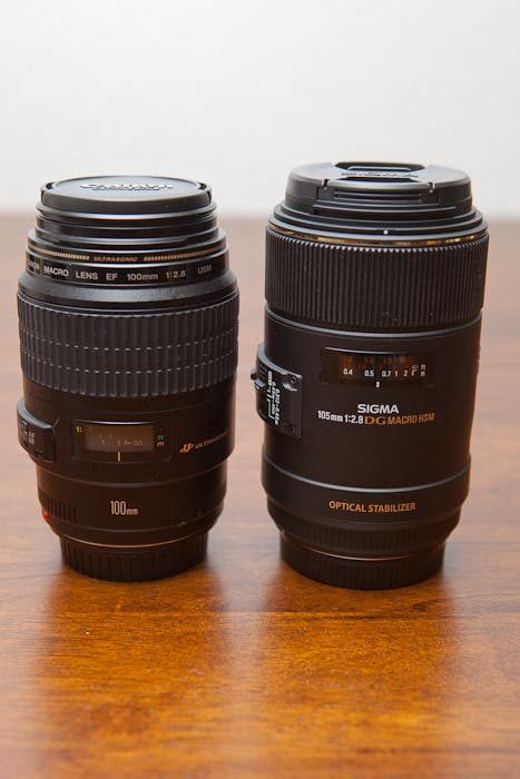 Size Comparison With Canon's 100mm f/2.8 Macro