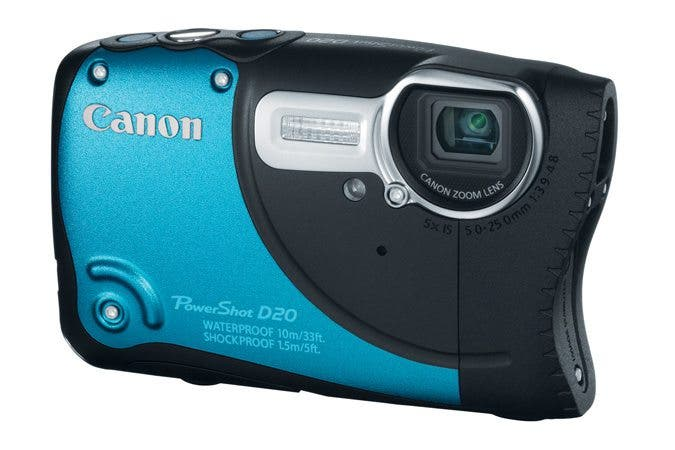 Canon Announces New D20 Underwater Point And Shoot; Looks Like A Large Mouthed Fish