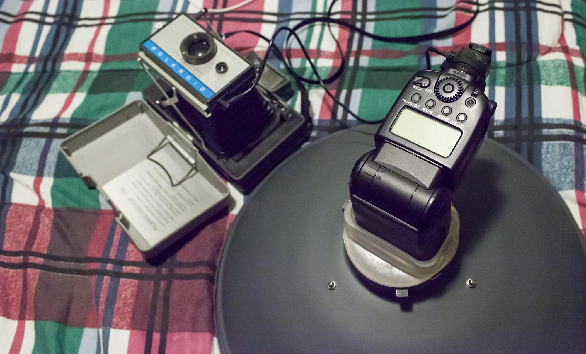 Useful Photography Tip #12: Use an Old Polaroid Land Camera With Your Modern Speedlite Flash