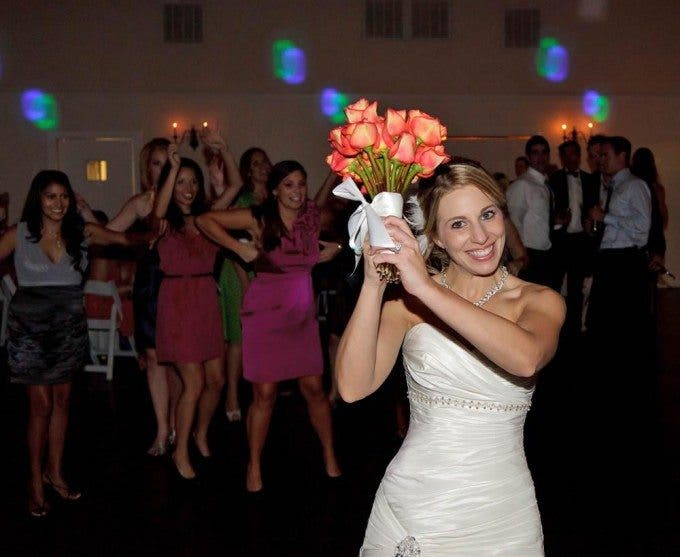 Wedding Bouquet Throw