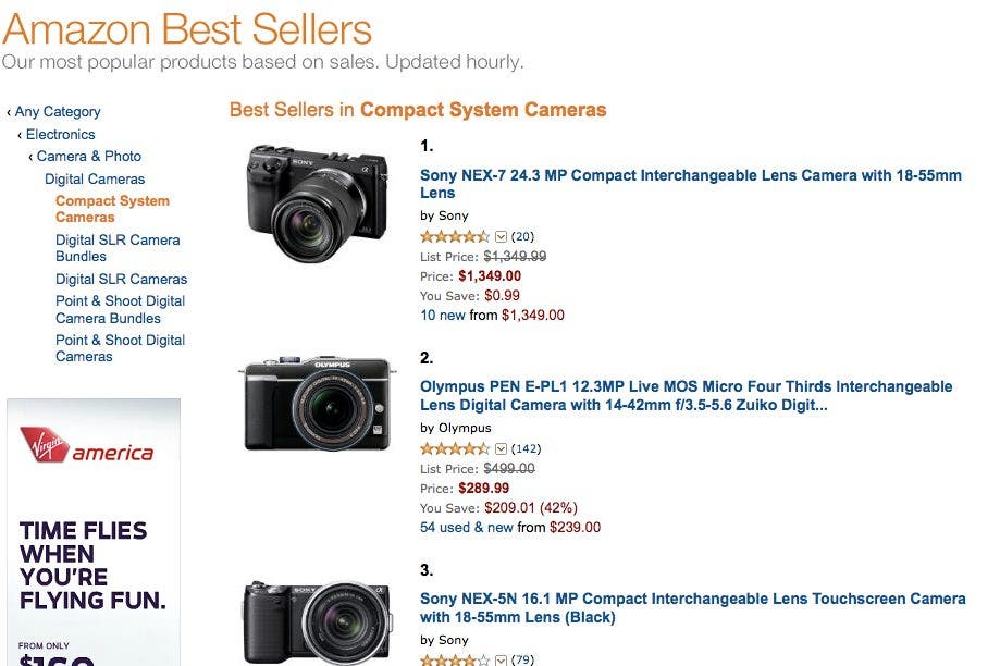 Amazon Releases All These Interesting Pages for Camera Geeks; Encourages You to Spend