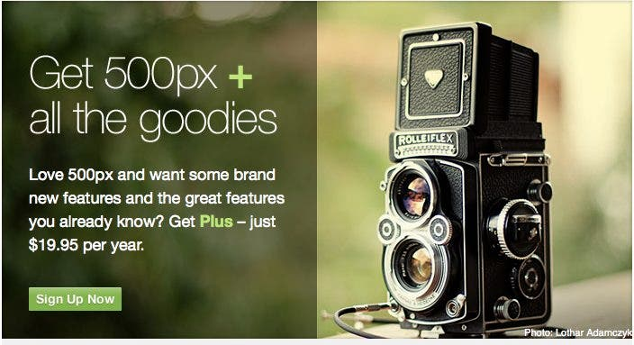 500px Plus For Those Who Aren't Quite Awesome