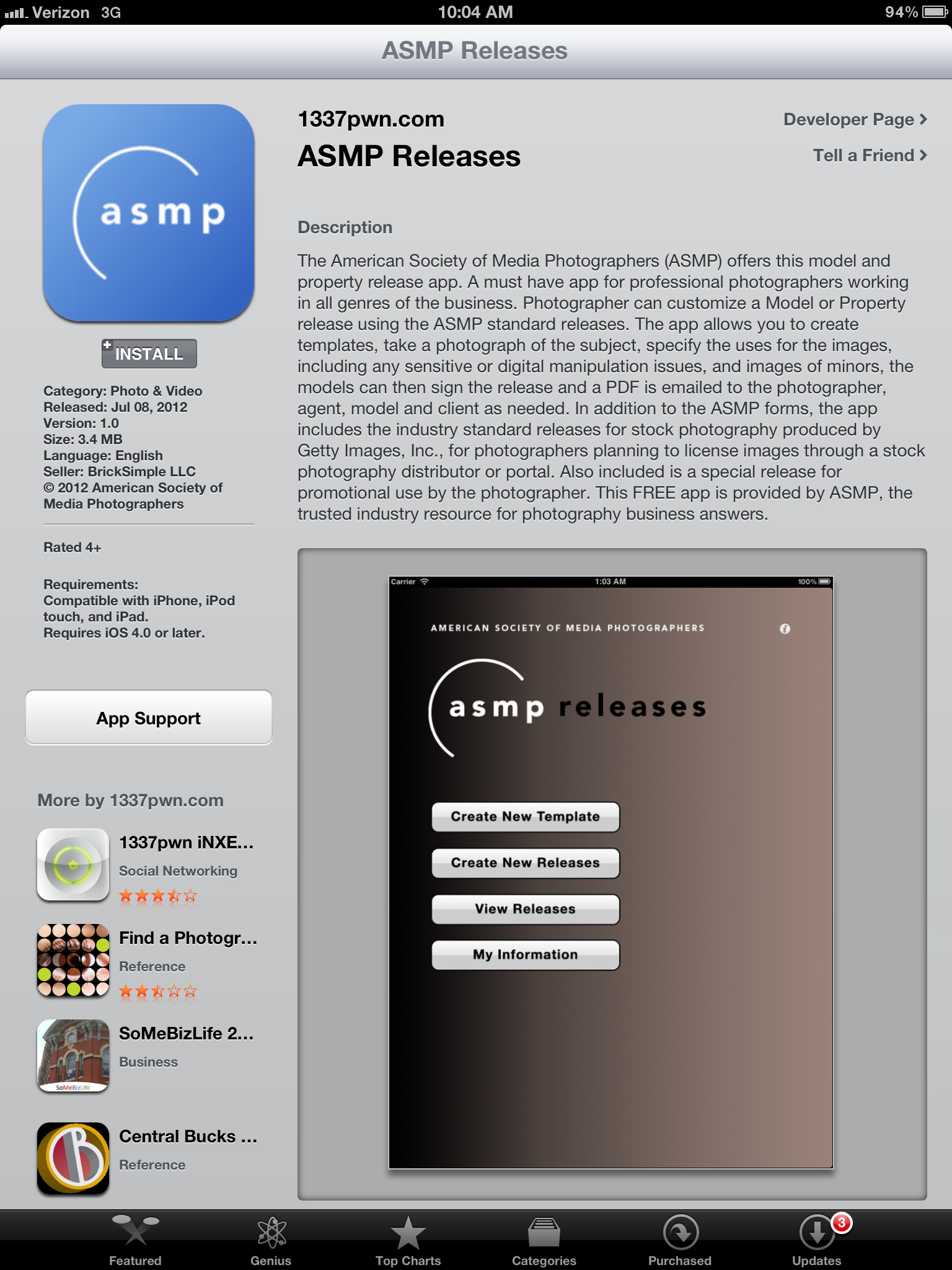 Quick Review: ASMP Model Release App