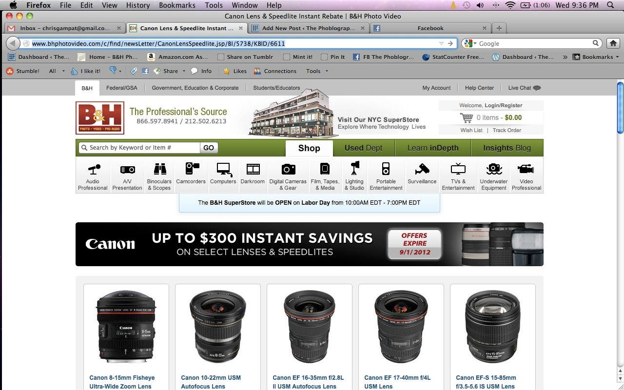 We Dare You to Not Look at This Canon Lens Discount Page and Not Buy Something