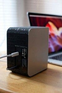 WD Thunderbolt Duo - Back of Drive