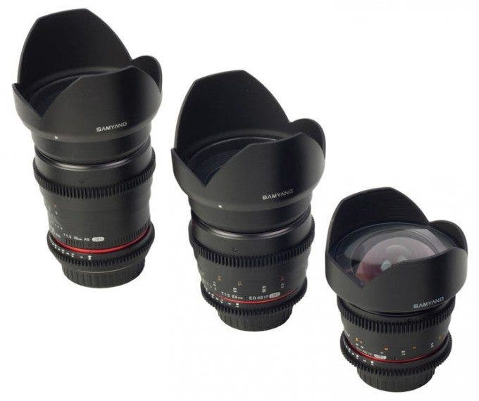 New Samyang Cinema Lenses