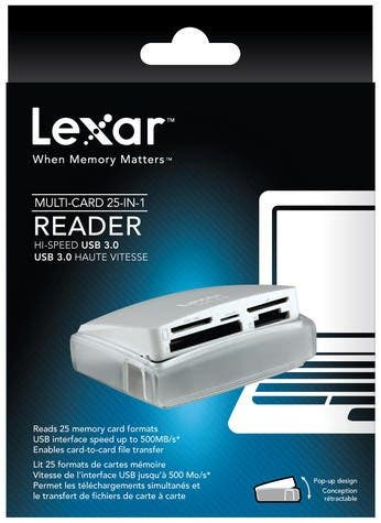 Lexar Announces New 25-in-1 Card Reader With Clamshell Design