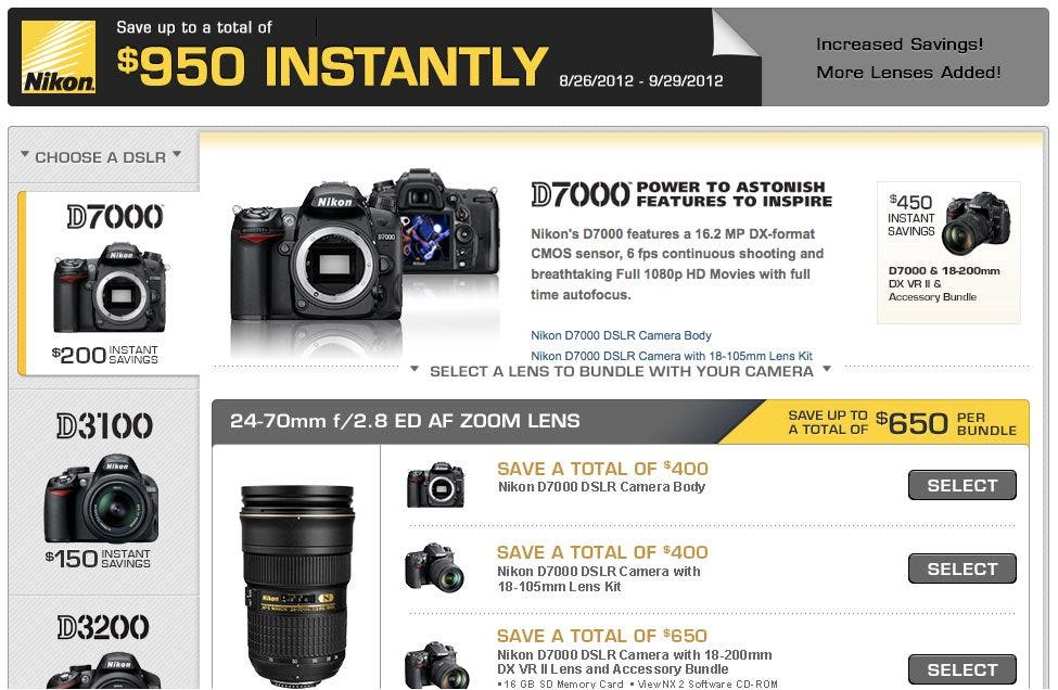 Cheap Photo: Apparently Sony and Nikon Really Want You to Buy Their Cameras