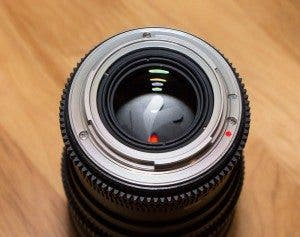 Cine 35 mm back of lens