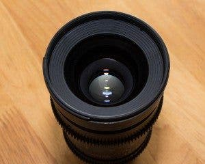 Rokinon Cine 35mm top of lens