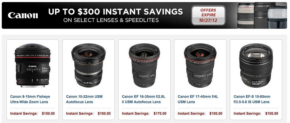 Cheap Photo: I Think That Canon Could Really Be Trying to Get You To Buy Some Stuff
