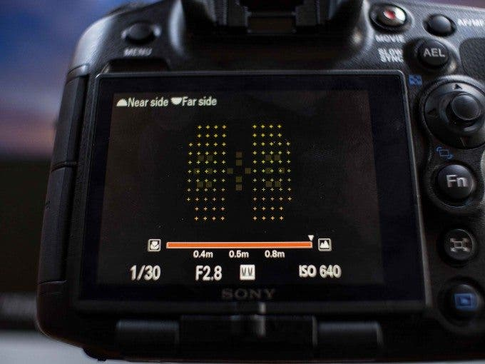 Sony A99 102 AF Points