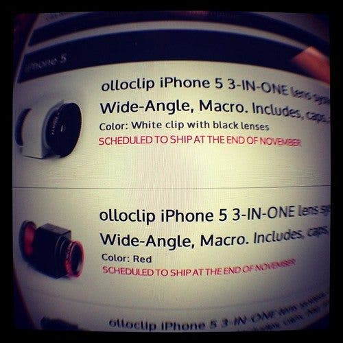 Olloclip For iPhone 5 is Now Available For Preorder