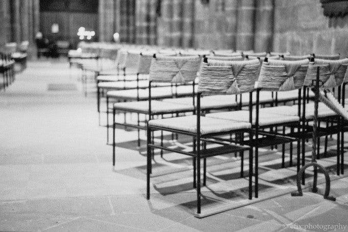 Church interior at f2, on Fuji Neopan 1600.