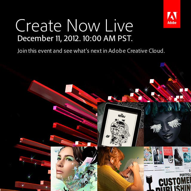 Get Ready for Adobe's Create Now Livestream on Dec. 11