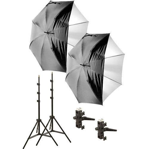 Cheap Photo: Two Impact Umbrellas + Lightstands +Brackets for Under $100