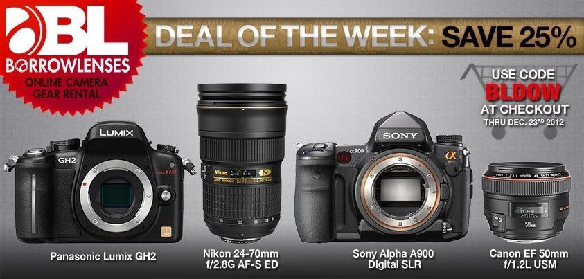 Cheap Photo: Borrow Lenses' Deal of the Week Includes Some Interesting Choices
