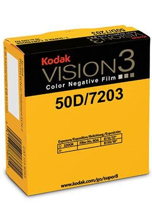 Kodak Vision3 50D Super 8mm Motion Picture Negative Film
