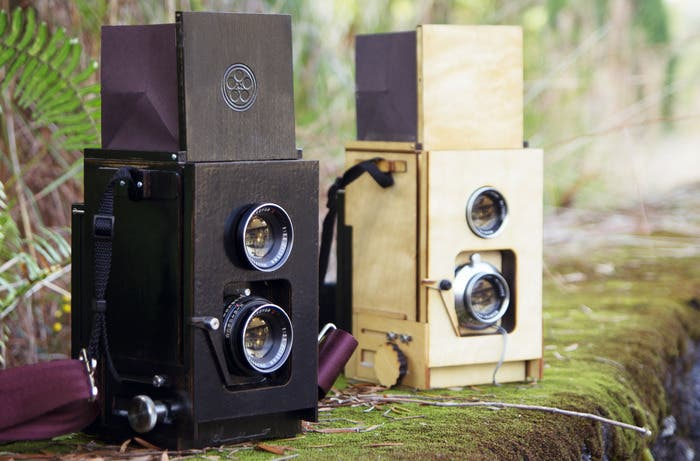 Duo is a DIY Twin Lens Reflex Made of Wood, Mamiya Lenses and a Polaroid Back