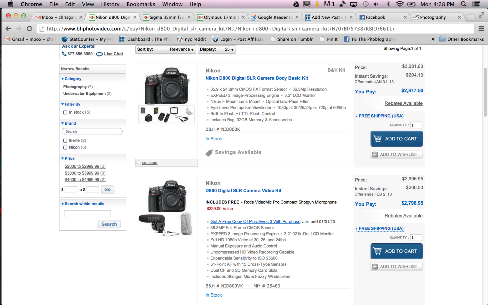 Cheap Photo: Even More Nikon D800 Deals and Something For Micro Four Thirds