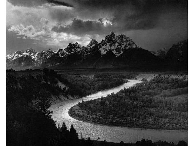 Tetons and The Snake River - 1942