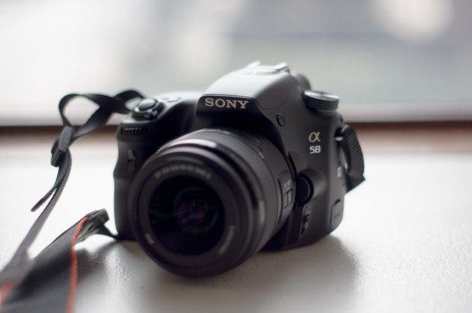 sony a58 front