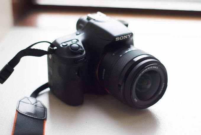 sony a58 top front