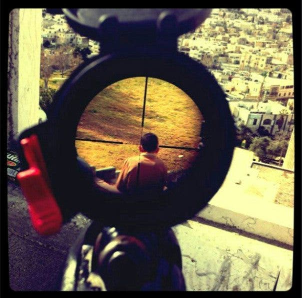 Instagram Israeli Soldier Palestinian Child Crosshairs