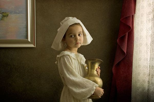 Photographer Recreates Famous Paintings Using His Daughter