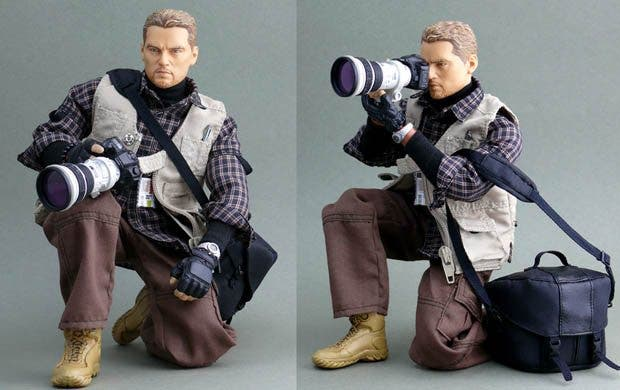Conflict Photographer Action Figure Is Probably The Real Father of the Baby That Barbie Pushes Around in a Stroller
