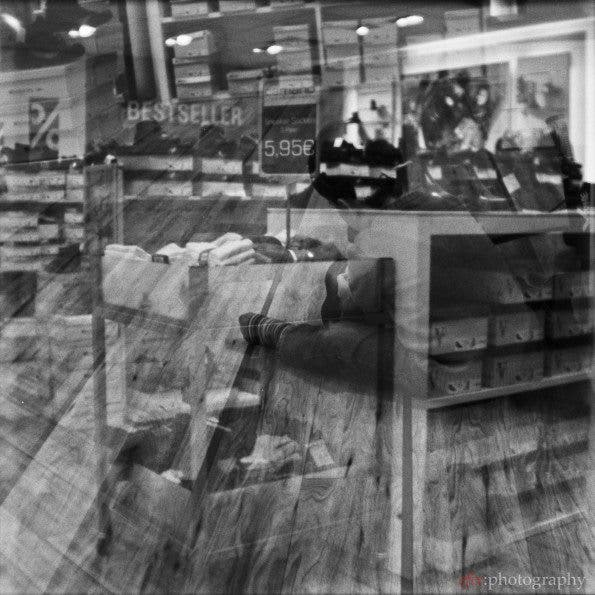 Shopping for shoes | Belair + Fomapan 400