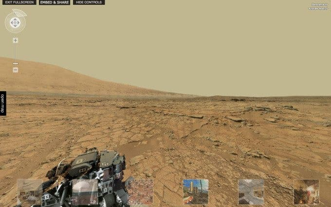 This is a 360 Panorama of Mars, And Not From Star Trek
