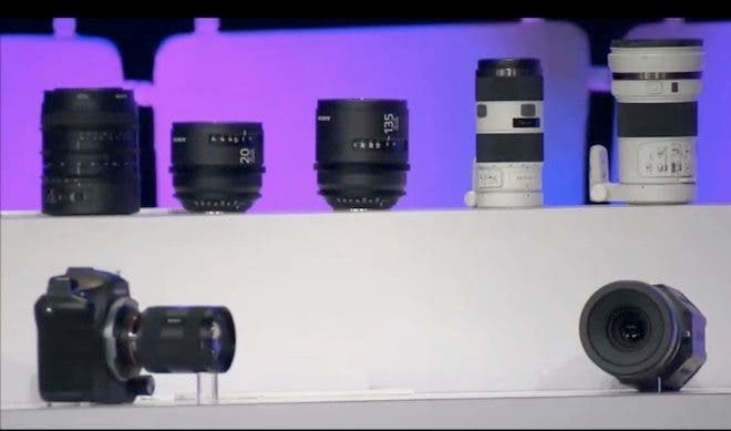Sony Provides a Sneak Peek of 4K Camera Prototype That Will Compete With Canon's Cinema EOS Line