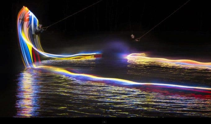 Wakeboarding + Painting with Light = Awesome