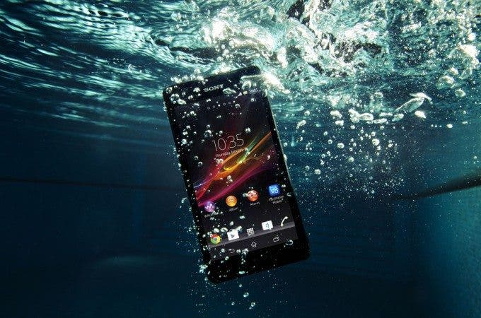 Sony XPERIA ZR submerged