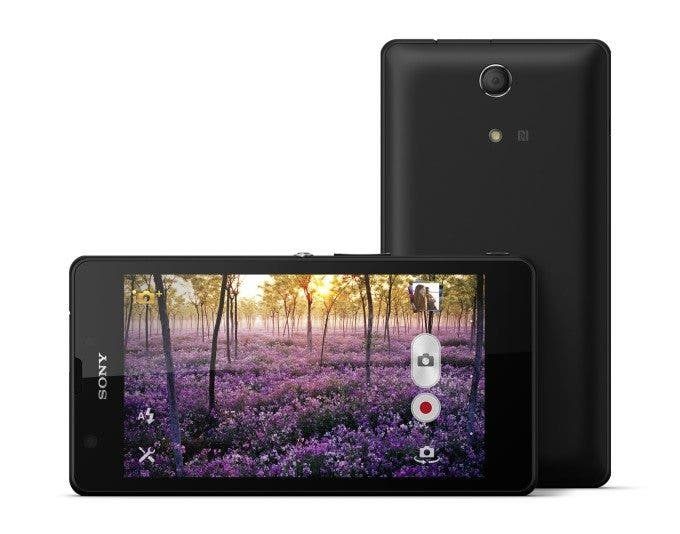 Sony XPERIA ZR front and back