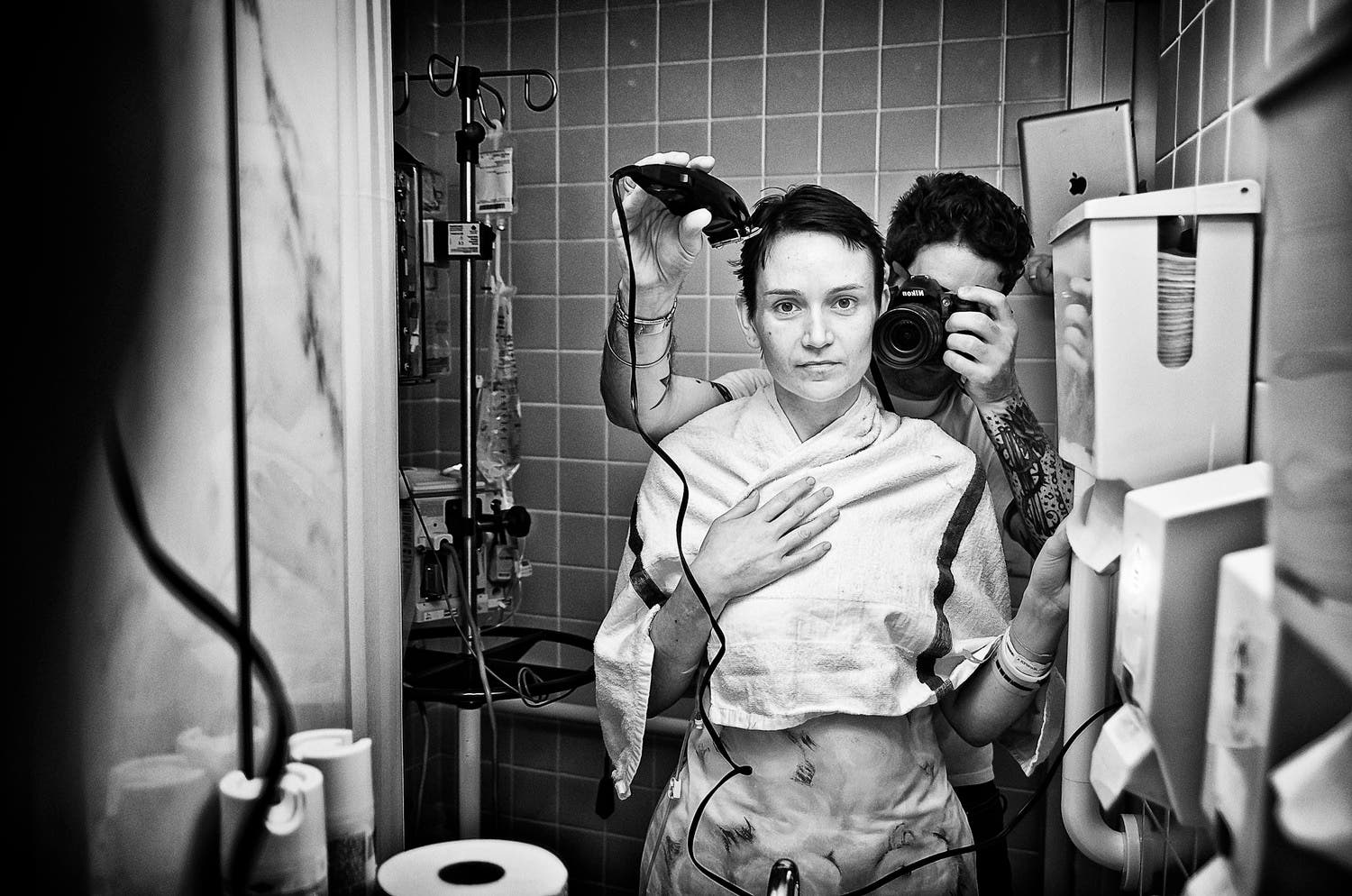 the power of a photo essay the battle we didn t choose the shaving jens head at the hospital