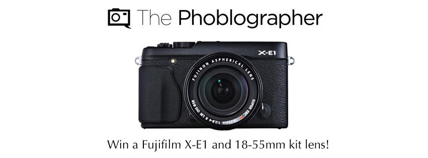 You Guys (And Gals) Know That We're Giving Away a Fujifilm X-E1, Right?