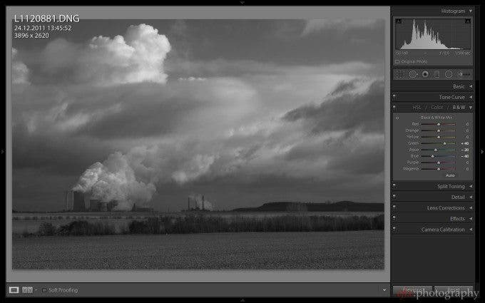 Felix Esser The Phoblographer Lightroom 5 Black and White Conversion Screenshot