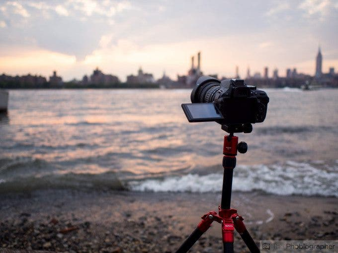 Considering the Nikon D5200's timelapse feature, we decided to shoot an image of it capturing a timelapse during a sunset.