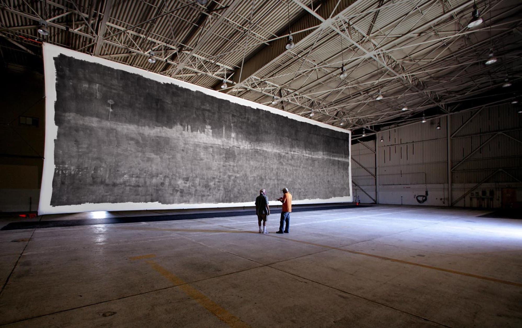 The World's Largest Pinhole Photograph is Literally as Large as an Airplane Hangar