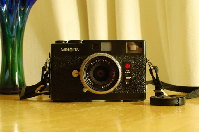 "Picture ""Minolta CLE and CV 28/3.5"" by Andrew Sales on Flickr"